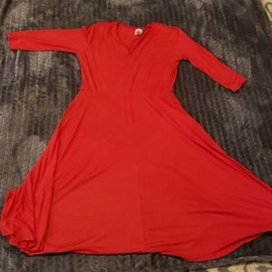 Agnes &Dora Red Curie style dress